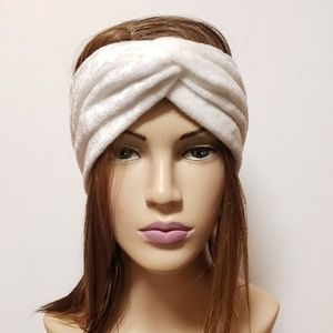 White Microfiber Turban Headband, Hair Towels